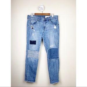TREASURE & BOND Patchwork Boyfriend Jeans